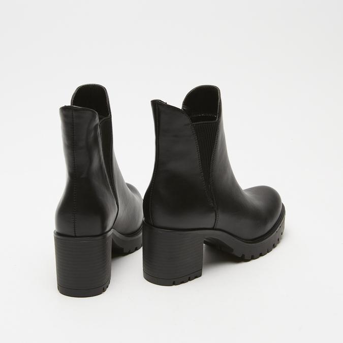 bottines à talons larges bata, Noir, 791-6163 - 15