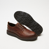 chaussures basses brogue en cuir à semelle track bata, Brun, 824-4226 - 17