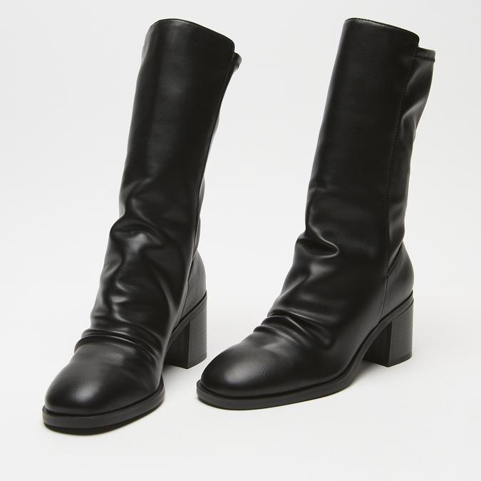 bottes à talons larges bata, Noir, 791-6820 - 16