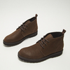Desert boots en nubuck à semelle effet track bata, Brun, 896-3277 - 16