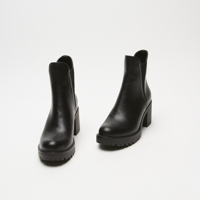 bottines à talons larges bata, Noir, 791-6163 - 26