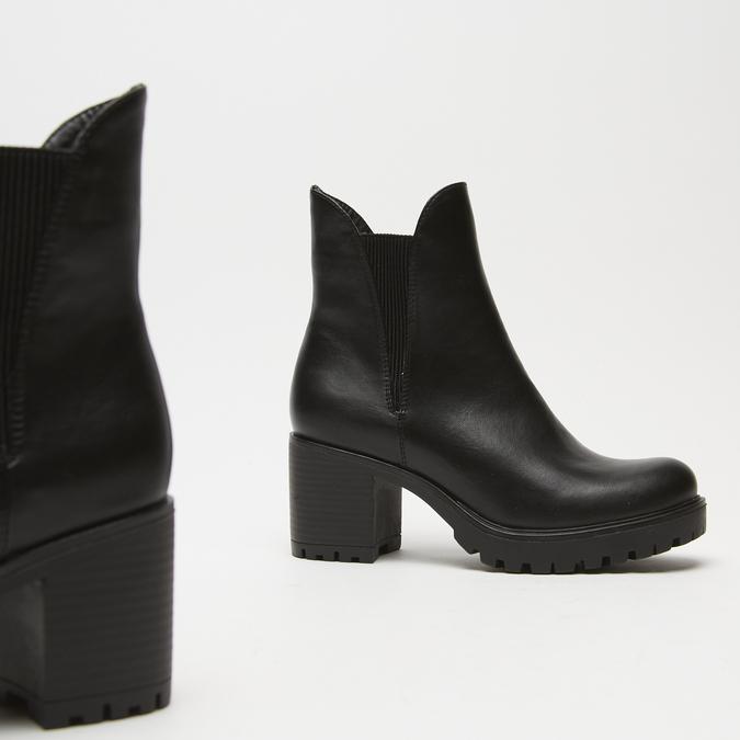bottines à talons larges bata, Noir, 791-6163 - 19