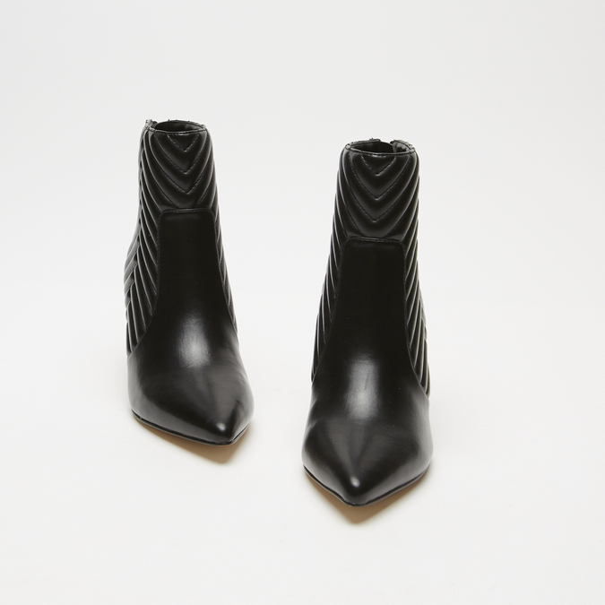 bottines pointues à effet matelassé bata, Noir, 791-6796 - 26
