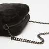 sac à bandoulière avec fourrure bata, Noir, 969-6193 - 15
