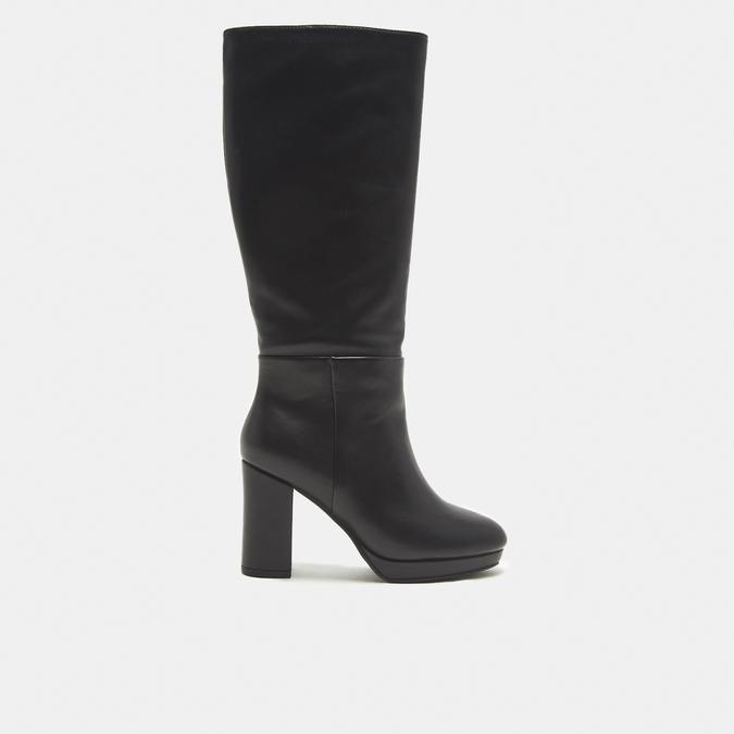 bottes en-dessous du genou à talons larges bata, Noir, 791-6257 - 13