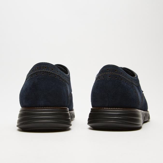 chaussures basses brogue en suède bata, Bleu, 823-9199 - 17