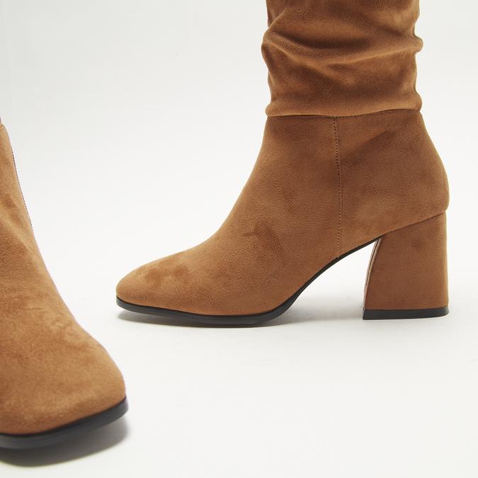 bottes en-dessous du genou à talons larges bata, Brun, 799-3421 - 15