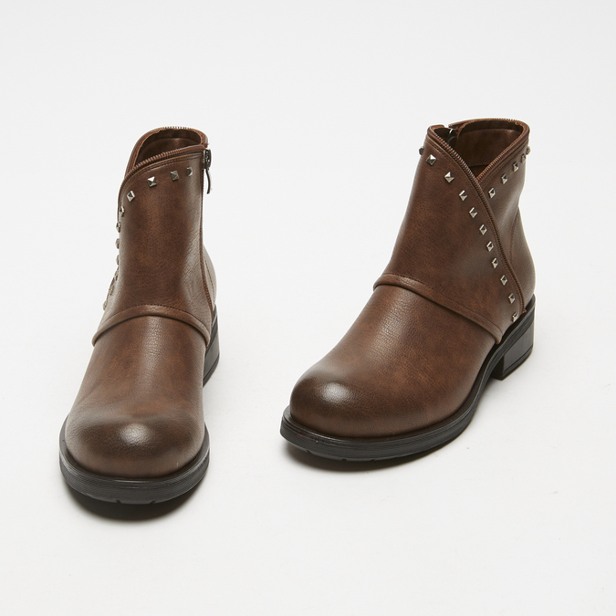 bottines à clous bata, Brun, 591-4316 - 26