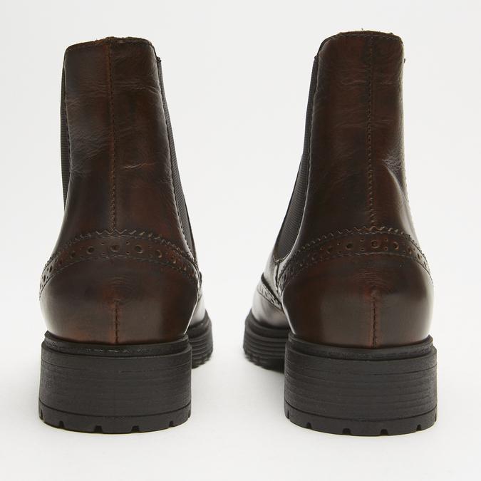 bottines en cuir à surpiqûre visible bata, Brun, 594-4832 - 17