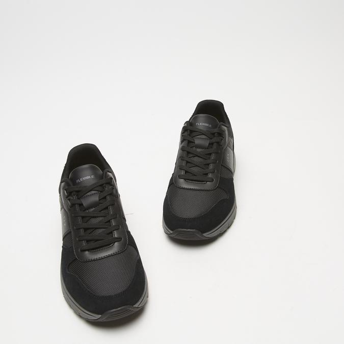baskets en suède Flexible homme flexible, Noir, 843-6411 - 26