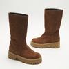 combat boots en suède à semelles track bata, Brun, 593-3836 - 16