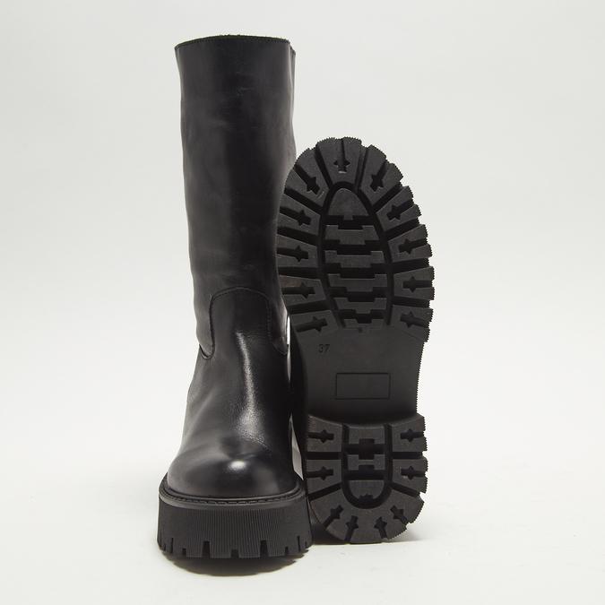 combat boots en cuir à semelles track bata, Noir, 594-6836 - 19