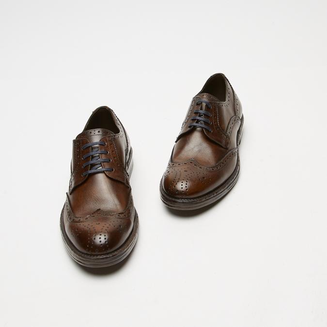 chaussures basses brogue en cuir bata, Brun, 824-4300 - 26